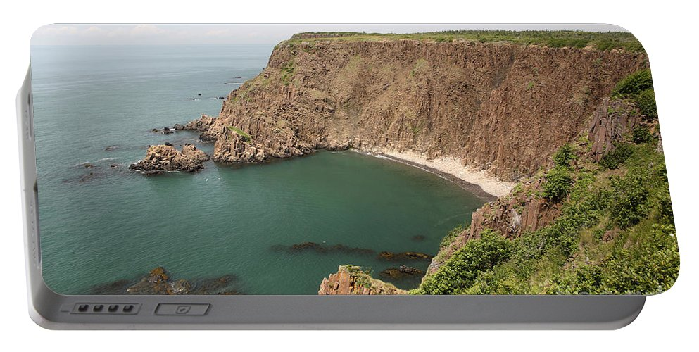 Nature Portable Battery Charger featuring the photograph Cliffs On Grand Manan Island by Ted Kinsman