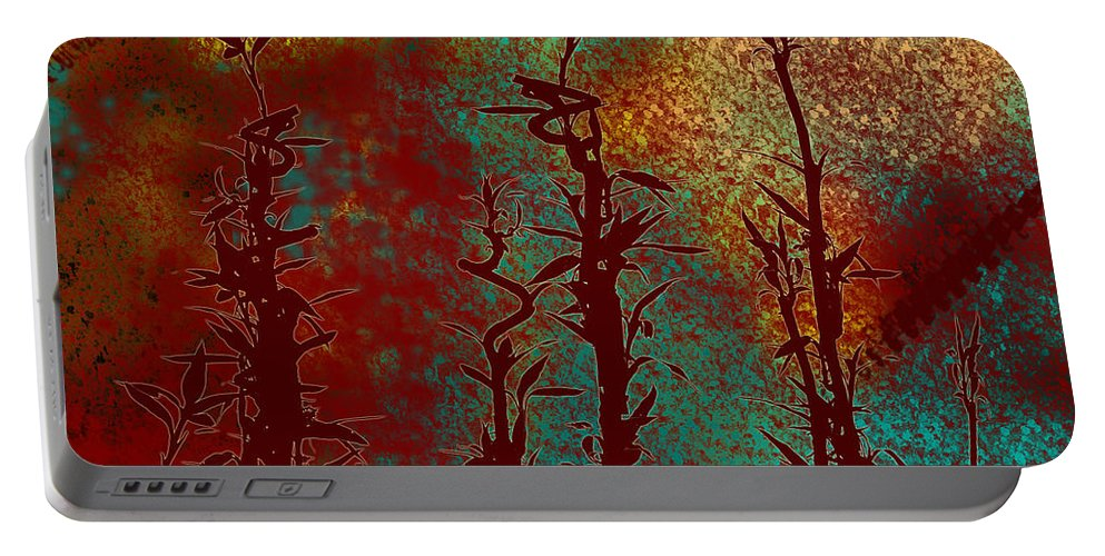 Abstracts Portable Battery Charger featuring the digital art Climbing Unknown Horizons by Lj Lambert