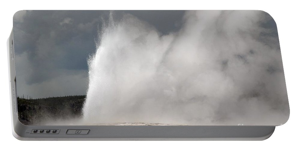 Old Faithful Portable Battery Charger featuring the photograph Close Up Of Old Faithful by Living Color Photography Lorraine Lynch