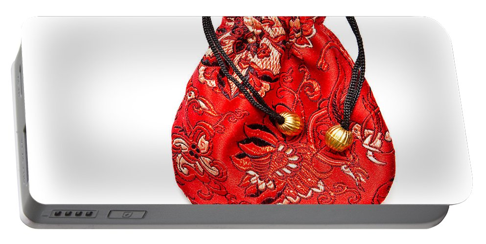 Accessory Portable Battery Charger featuring the photograph Cloth Purse by Tom Gowanlock