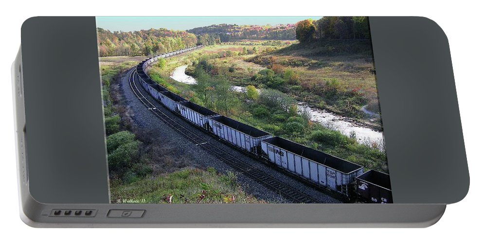 2d Portable Battery Charger featuring the photograph Coal Train - Johnstown by Brian Wallace