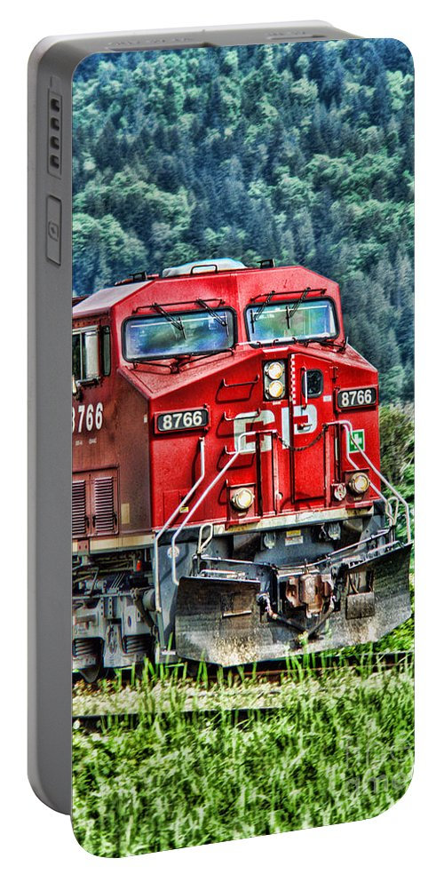 Trains Portable Battery Charger featuring the photograph Coal Train Hdr by Randy Harris