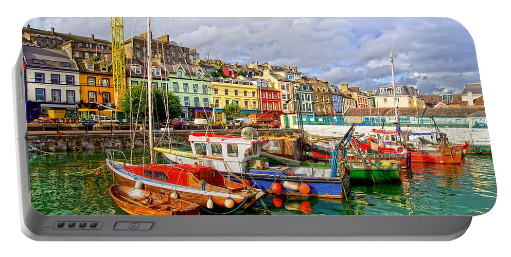 Port Portable Battery Charger featuring the photograph Cobh Town In Ireland by Artur Bogacki