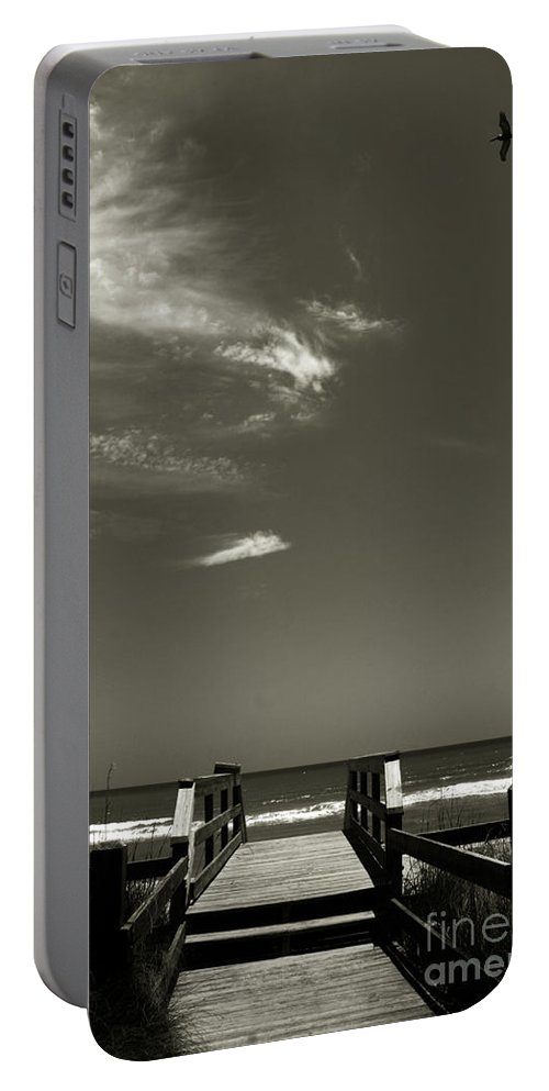 Beach Portable Battery Charger featuring the photograph Coconut Point Beach Fl by Susanne Van Hulst