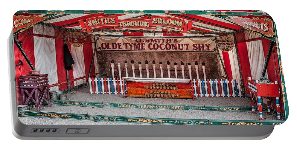 British Portable Battery Charger featuring the photograph Coconut Shy by Adrian Evans