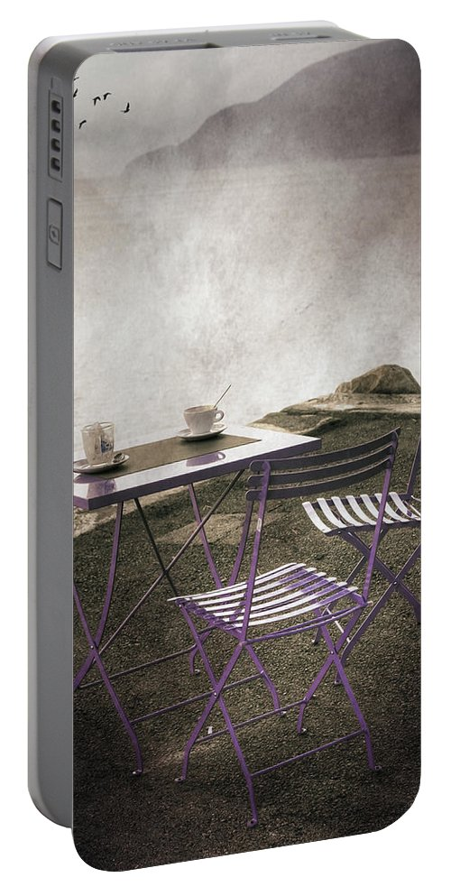 Lake Portable Battery Charger featuring the photograph Coffee Table by Joana Kruse