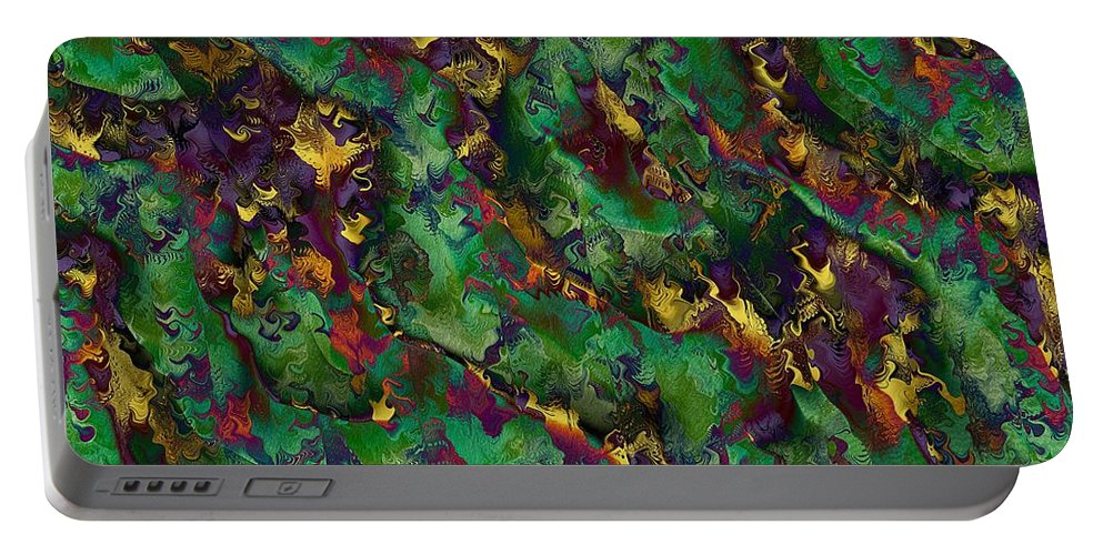 Abstract Portable Battery Charger featuring the digital art Coherent States by Richard Kelly