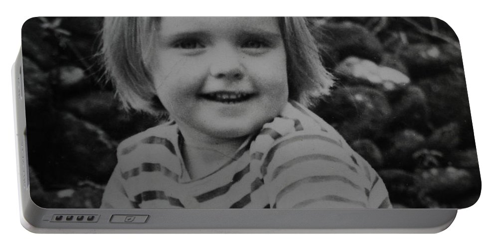 Colette Portable Battery Charger featuring the photograph Colette Happy 4 Years Old In France by Colette V Hera Guggenheim