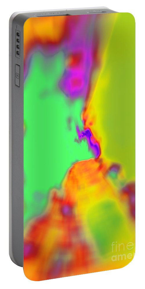 Abstract Portable Battery Charger featuring the photograph Color Fusion Abstract by Debbie Portwood