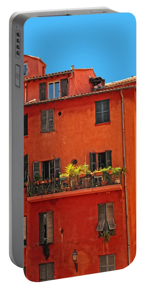Provence Portable Battery Charger featuring the photograph Color In Provence by Dave Mills