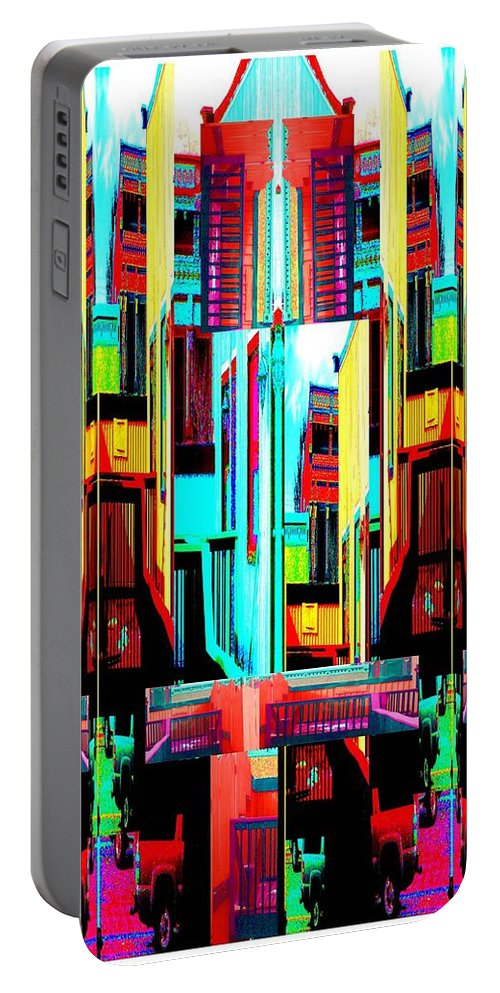 Contemporary Portable Battery Charger featuring the digital art Color Me New by Dee Fabian