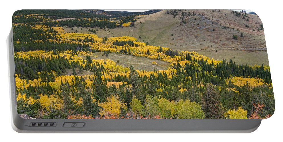 Colorful Portable Battery Charger featuring the photograph Colorado Autumn Aspens Colors by James BO Insogna