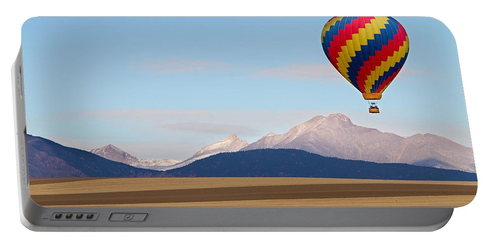 Ballooning Portable Battery Charger featuring the photograph Colorado Ballooning by James BO Insogna