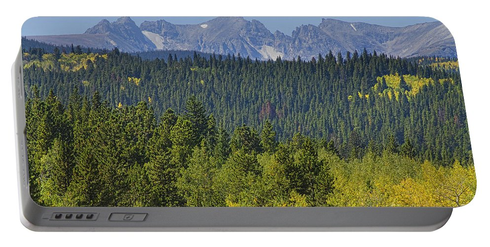 Colorado Portable Battery Charger featuring the photograph Colorado Rocky Mountain Continental Divide Autumn View by James BO Insogna