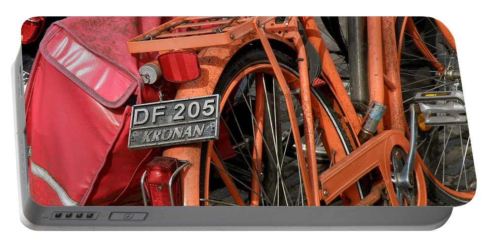 Bikes Portable Battery Charger featuring the photograph Colorful Dutch Bikes by Lainie Wrightson