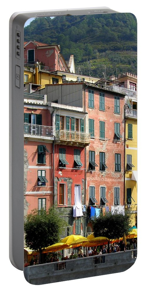 Vernazza Portable Battery Charger featuring the photograph Colorful Vernazza by Carla Parris