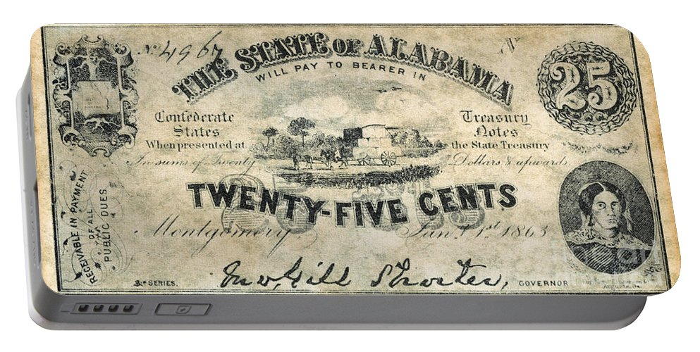 1863 Portable Battery Charger featuring the photograph Confedrate Currency by Granger