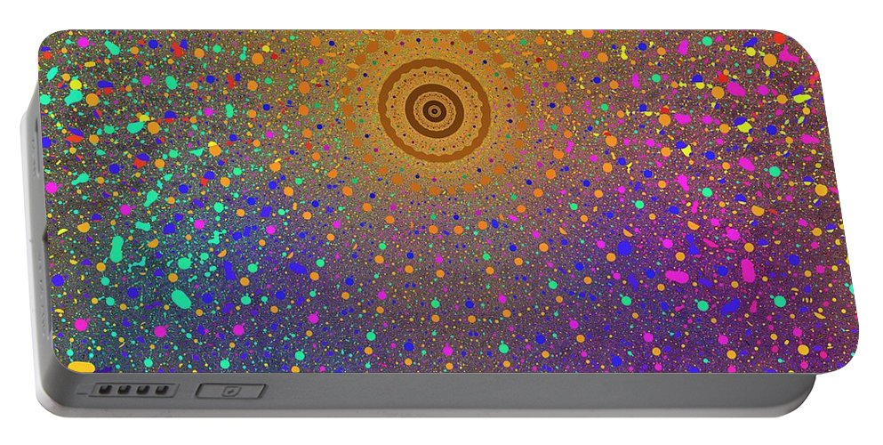 Fractal Portable Battery Charger featuring the digital art Confetti Shower by Mark Greenberg