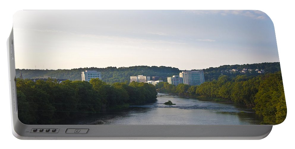 Conshohocken Along The Schuylkill River Portable Battery Charger featuring the photograph Conshohocken Along The Schuylkill River by Bill Cannon