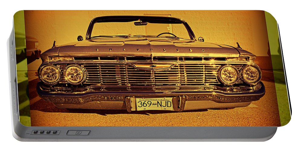 Cars Portable Battery Charger featuring the photograph Cool Impala by Randy Harris