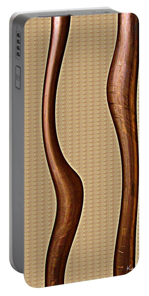 Part Portable Battery Charger featuring the photograph Copper Curve by Kathy Sheeran