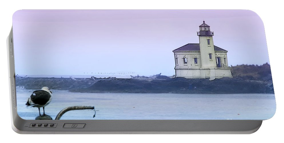 Lighthouse Portable Battery Charger featuring the photograph Coquille River Lighthouse by Betty LaRue
