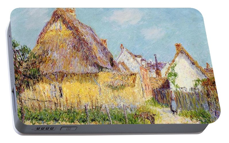 Cottage At Le Vaudreuil Portable Battery Charger featuring the painting Cottage At Le Vaudreuil by Gustave Loiseau