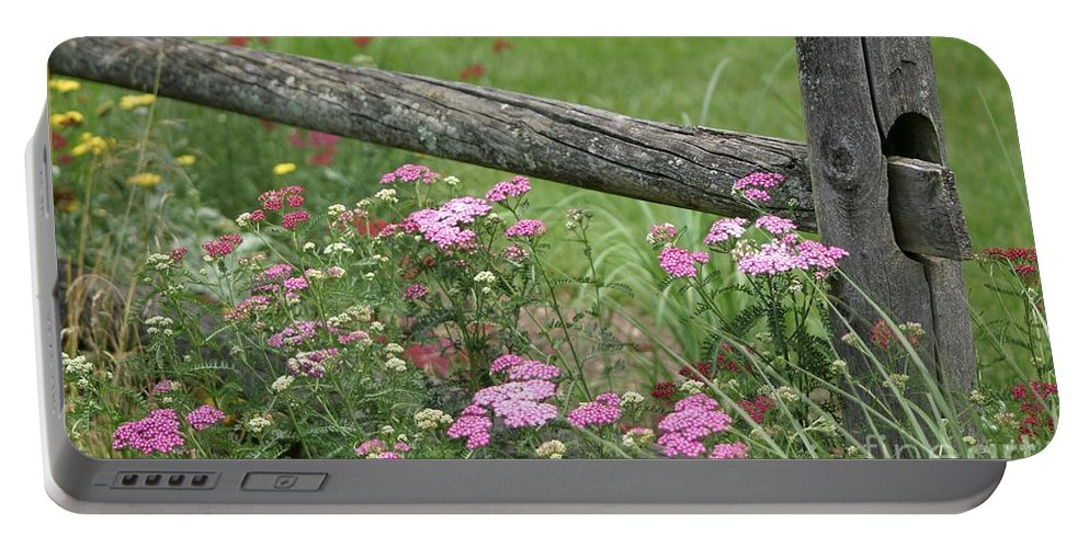 Fence Portable Battery Charger featuring the photograph Country Living by Living Color Photography Lorraine Lynch