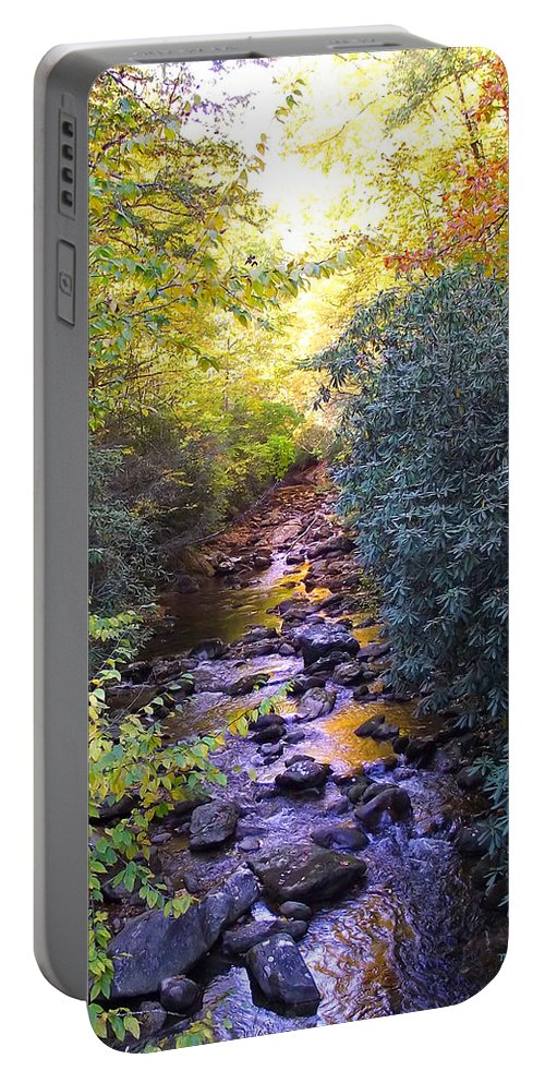 Rivers Portable Battery Charger featuring the photograph Courthouse River In The Fall 3 by Duane McCullough