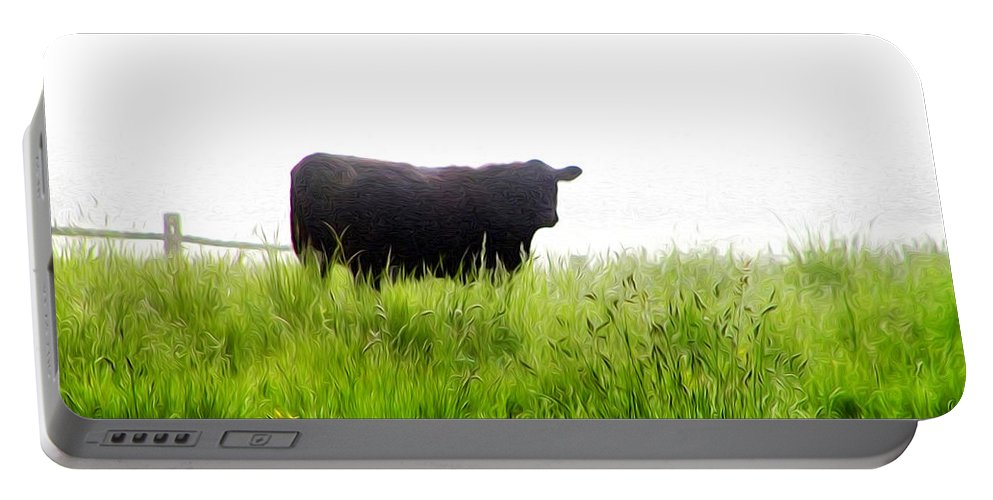 Cow Country Portable Battery Charger featuring the photograph Cow Country by Bill Cannon