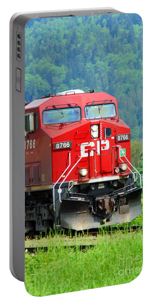 Trains Portable Battery Charger featuring the photograph Cp Coal Train by Randy Harris