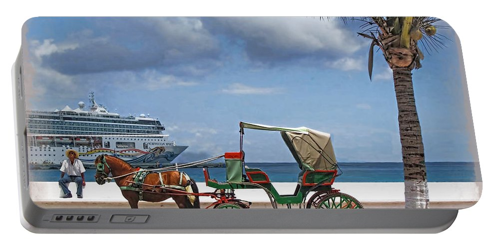 Cruise Portable Battery Charger featuring the photograph Waiting For Customers by Joan Minchak