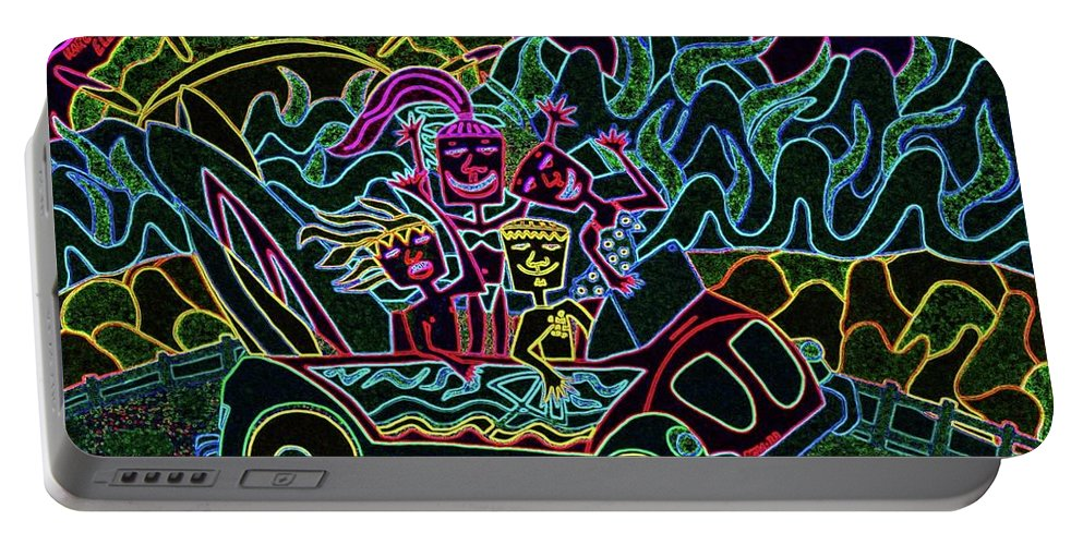 Painting Portable Battery Charger featuring the digital art Cruising Night by Karen Elzinga