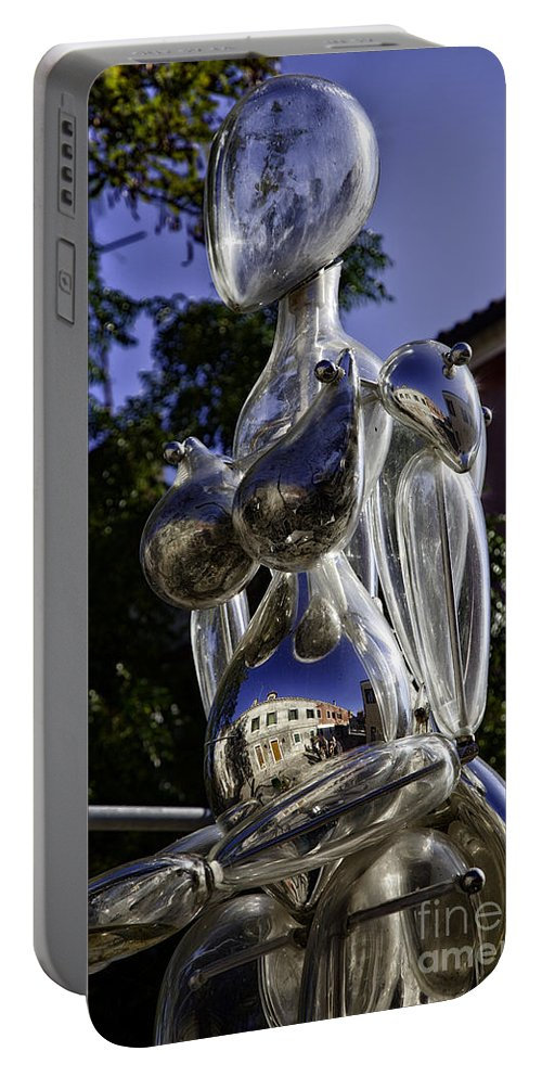 Glass Sculpture Portable Battery Charger featuring the photograph Crystal Lady by Madeline Ellis