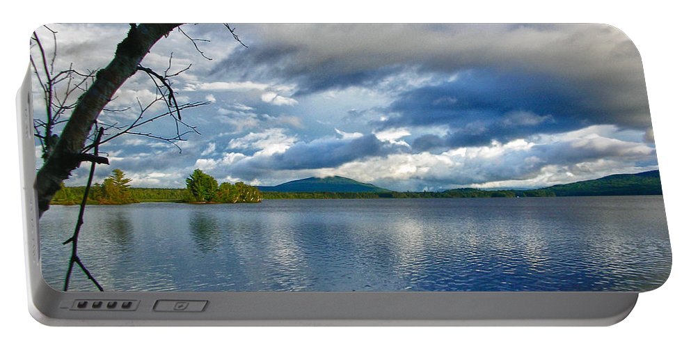 Guy Whiteley Photography Portable Battery Charger featuring the photograph Cupsuptic Lake by Guy Whiteley