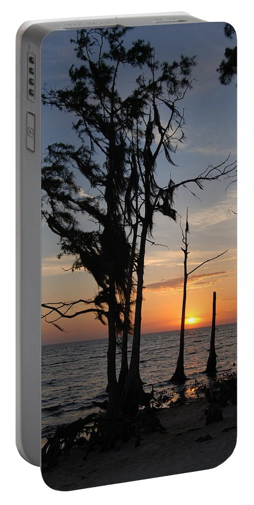 Cypress Portable Battery Charger featuring the photograph Cypress Sunset by Beth Gates-Sully