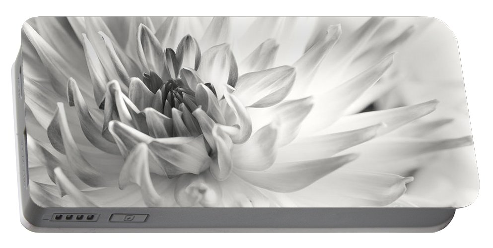 Dahlia Portable Battery Charger featuring the photograph Dahlia Flower 02 by Nailia Schwarz
