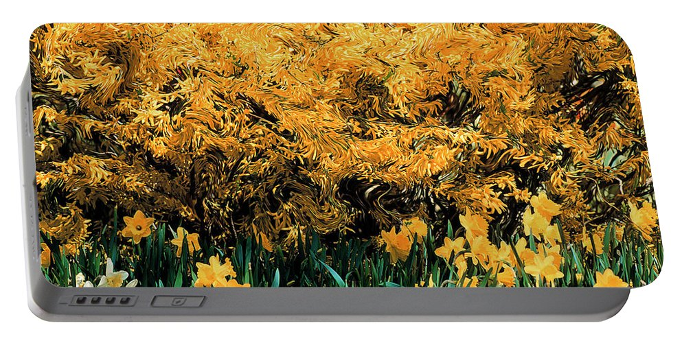 Spring Portable Battery Charger featuring the photograph Dali Spring 1 by Mike Nellums