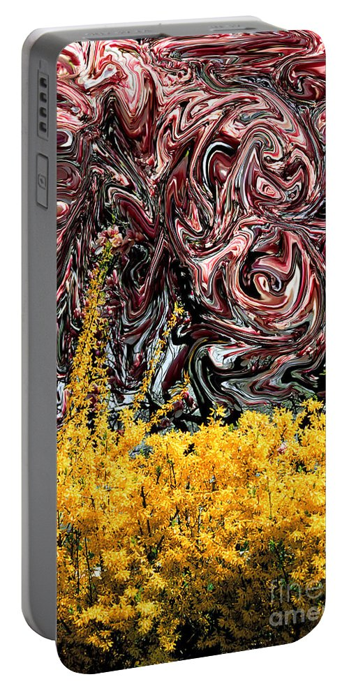 Spring Portable Battery Charger featuring the photograph Dali Spring 4 by Mike Nellums