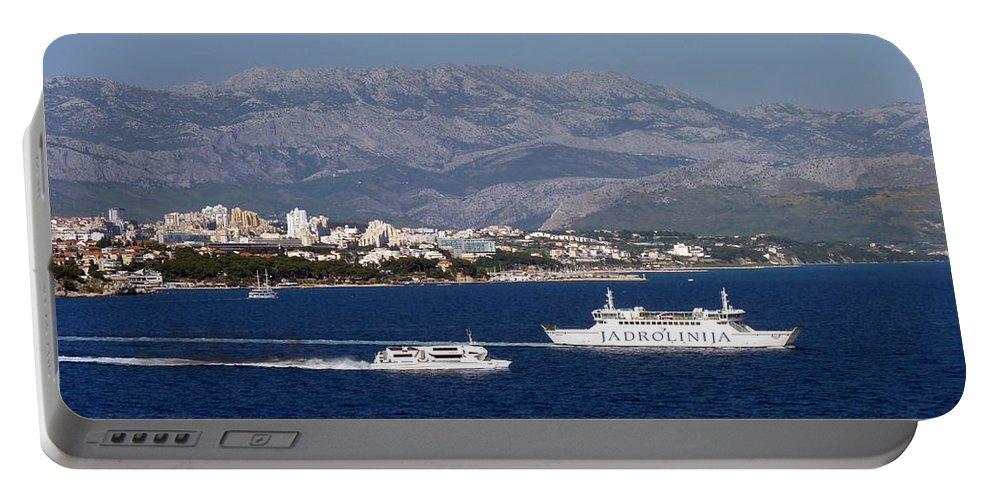 Dalmatia Portable Battery Charger featuring the photograph Dalmatian Coast by Carla Parris