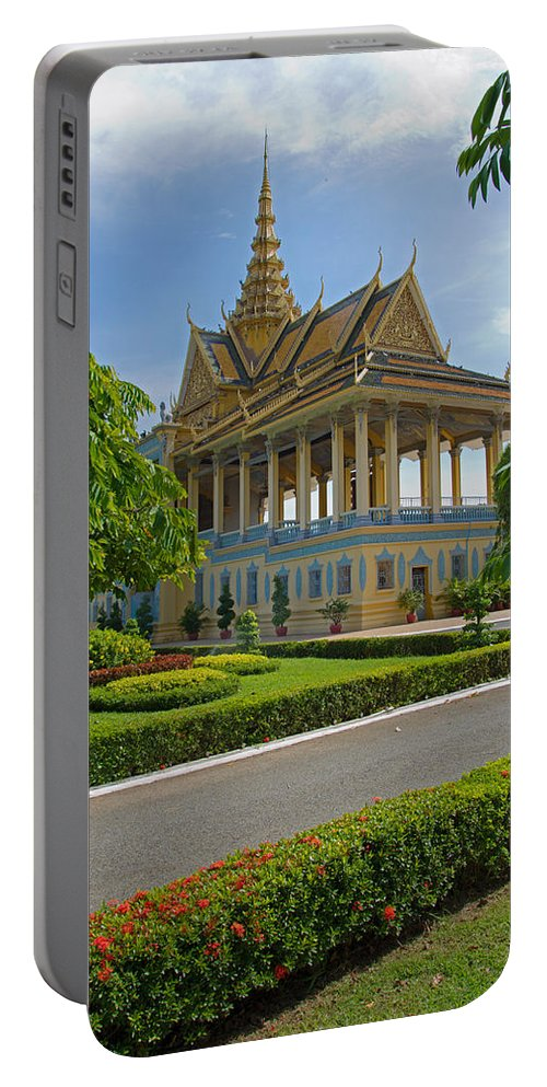 Cambodia Portable Battery Charger featuring the photograph Dancing Pavilion by David Freuthal