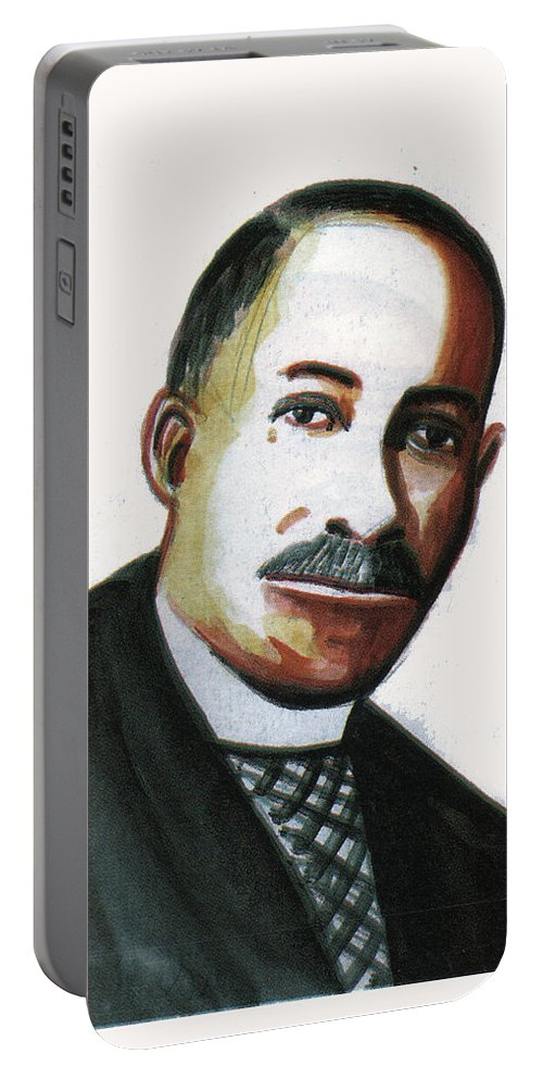 Portraits Portable Battery Charger featuring the painting Daniel Hale Williams by Emmanuel Baliyanga