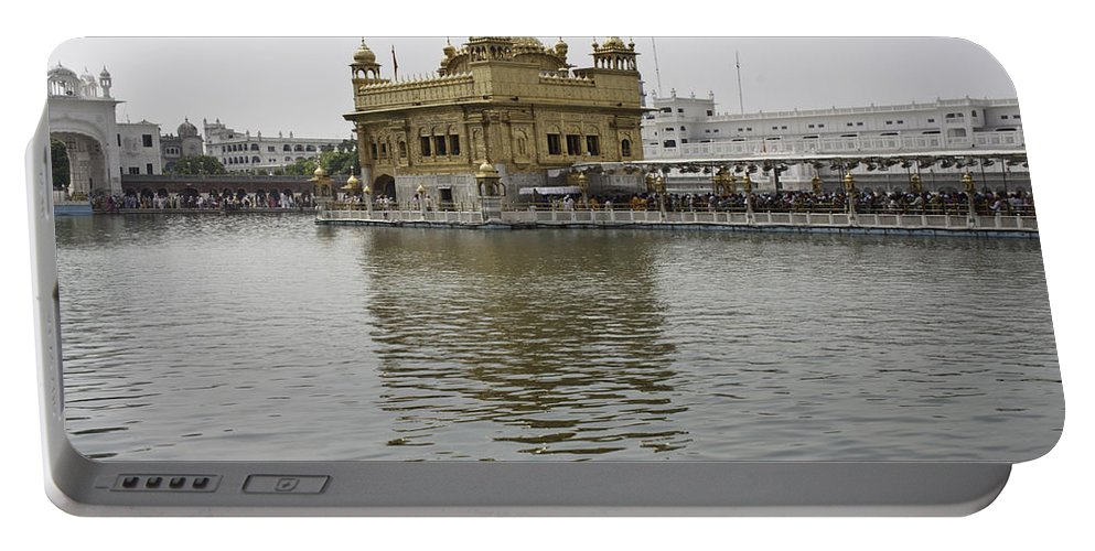 Amritsar Portable Battery Charger featuring the photograph Darbar Sahib And Sarovar Inside The Golden Temple by Ashish Agarwal