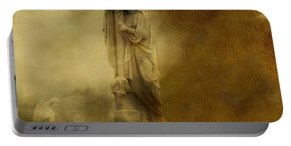 Gothic Art Portable Battery Charger featuring the photograph Dark Gothic Cloud by Gothicrow Images
