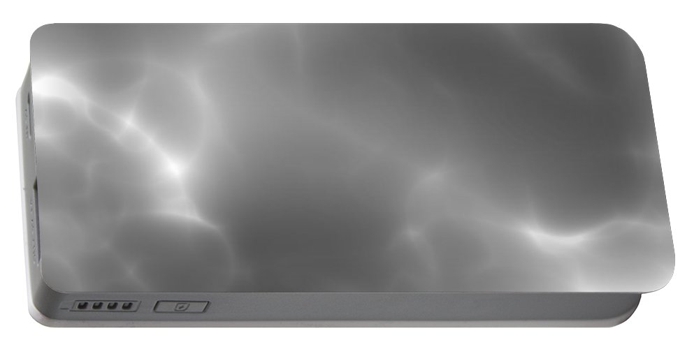Digital Clouds Portable Battery Charger featuring the digital art Dark Storm by Christy Leigh