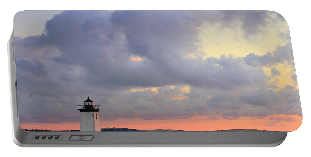 Lighthouse Portable Battery Charger featuring the photograph Dawn At Long Point Lighthouse by Roupen Baker