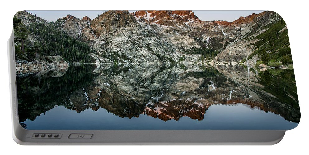 Sierra Portable Battery Charger featuring the photograph Dawn At Upper Sardine Lake by Greg Nyquist