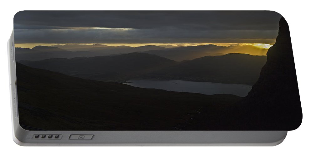 Loch Kishorn Portable Battery Charger featuring the photograph Dawn Breaks Over Loch Kishorn by Gary Eason