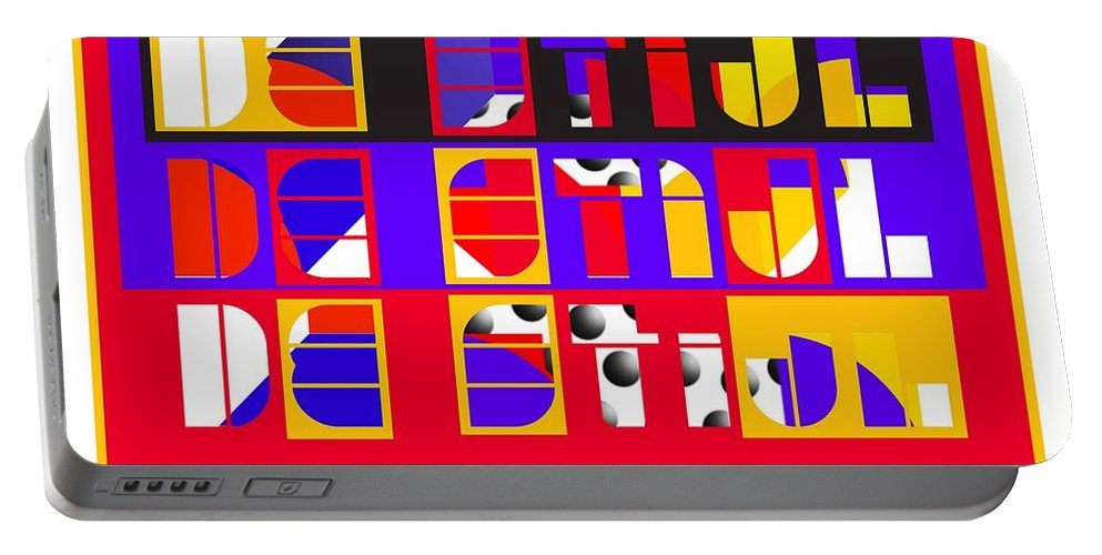 De Stijl Portable Battery Charger featuring the painting De Stijl by Charles Stuart