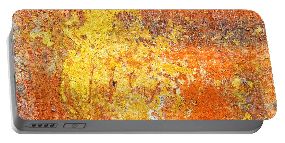 Abstract Portable Battery Charger featuring the photograph Decayed Wall by Silvia Ganora